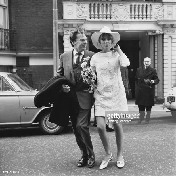 Welsh actor William Squire marries actress Juliet Harmer, UK, 9th March 1967.