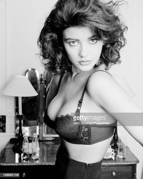 Welsh actress Catherine ZetaJones posed in 1992