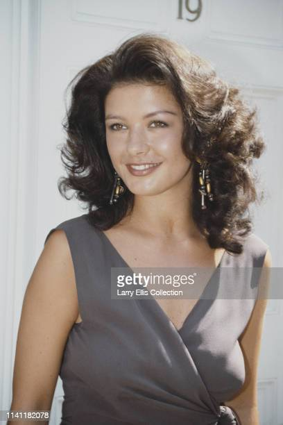 Welsh actress Catherine Zeta-Jones, who plays the role of Mariette in the television drama series The Darling Buds of May, pictured circa 1991.