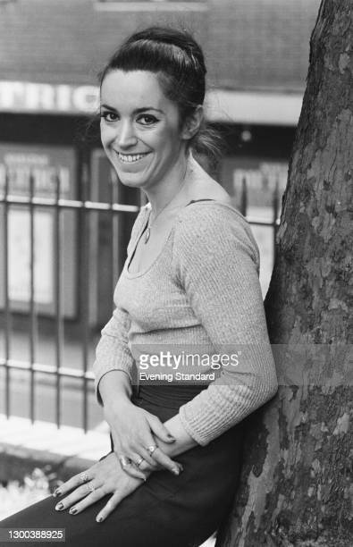 Welsh actress Jackie Skarvellis , UK, 13th June 1972. She starred in the film 'The Rats Are Coming! The Werewolves Are Here!' that year.