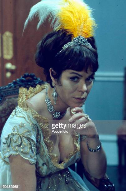 Welsh actress Rachel Roberts posed in character as Lady Hamilton on the set of the television drama play 'Nelson A Study in Miniature' in 1966
