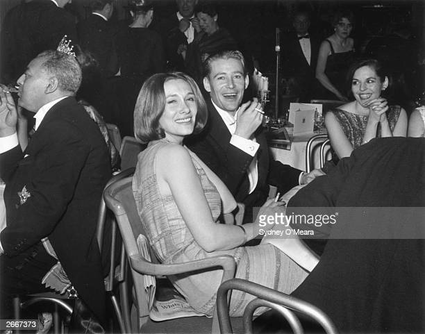 Welsh actress Sian Phillips with her husband Peter O'Toole.