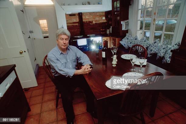 Welsh author Ken Follett at home UK 15th February 1998
