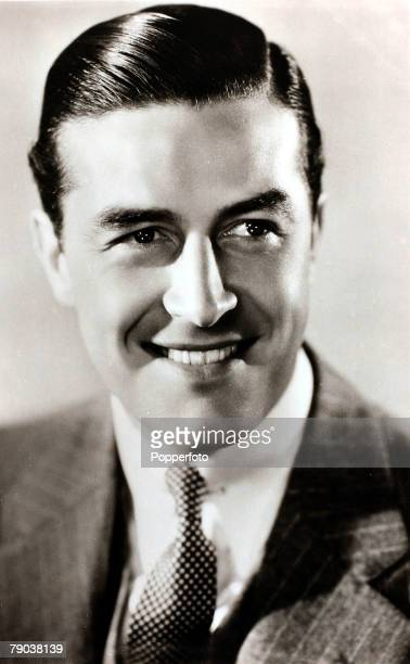Welsh born British actor Ray Milland posed circa 1940. Milland often played the charming, debonair leading man in drawing room comedies with his...