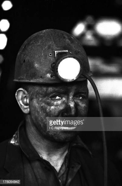 Welsh coal miner up from the pit at Merthyr Vale Colliery in November 1966 in the mining town of Aberfan South Wales