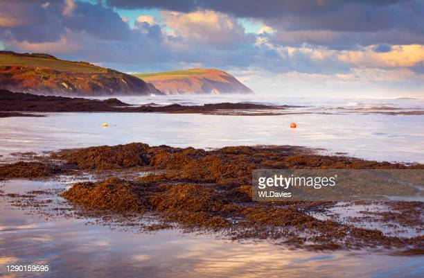 welsh coastline - seascape stock pictures, royalty-free photos & images