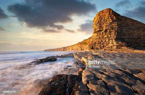 welsh coastline - extreme terrain stock pictures, royalty-free photos & images