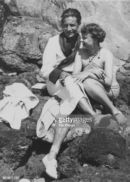 Welsh composer Ivor Novello and actress Edna Best on holiday in Madeira March 1935