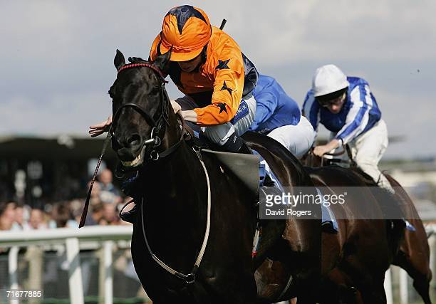 Welsh Emperor ridden by Jamie Spence races away to win the Sportsman Newspaper Hungerford Stakes at Newbury Racecourse on August 19 Newbury United...