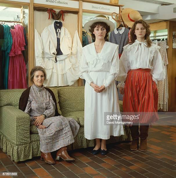 Welsh fashion designer Laura Ashley circa 1980