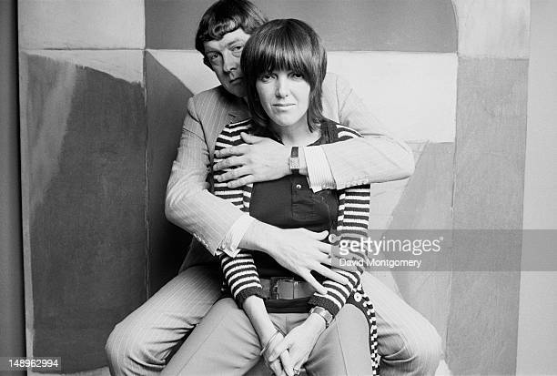 Welsh fashion designer Mary Quant with her husband and business partner Alexander Plunket Greene 1969