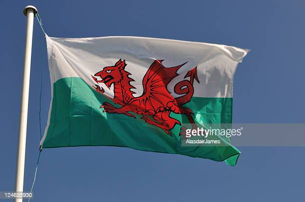 welsh flag - welsh flag stock pictures, royalty-free photos & images