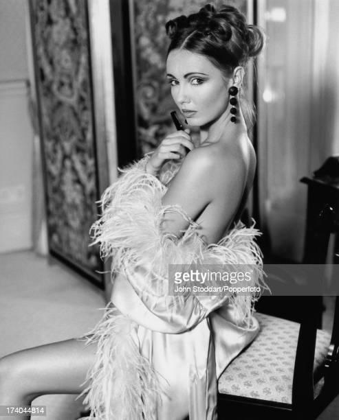 Welsh glamour model Kathy Lloyd circa 1992