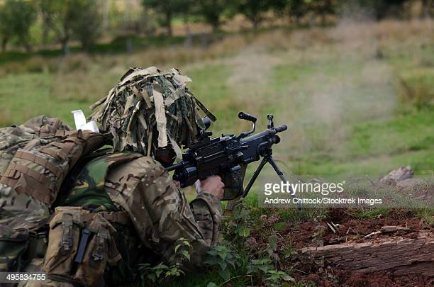 welsh guards training at the sennybridge training area, powys, wales, united kingdom. - british military stock pictures, royalty-free photos & images