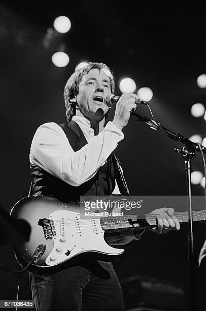 Welsh guitarist and singer Andy Fairweather Low performing on stage at a charity concert for ARMS held at the Royal Albert Hall London 20th September...