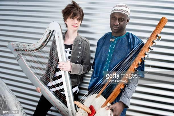 Welsh harpist Catrin Finch with Senegalese kora player Seckou Keita 18th November 2012