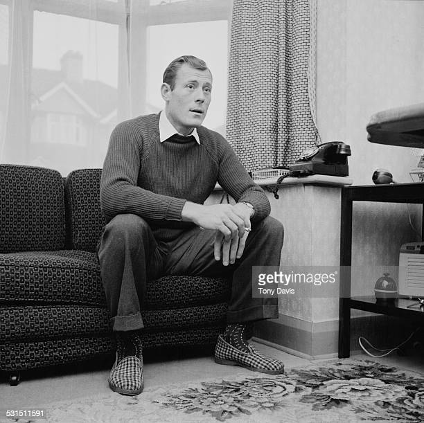 Welsh international and Arsenal goalkeeper Jack Kelsey at home 28th August 1958