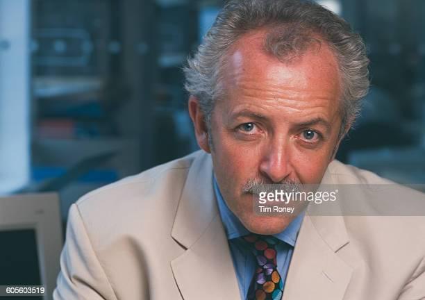 Welsh journalist and television presenter Jeremy Bowen circa 2005