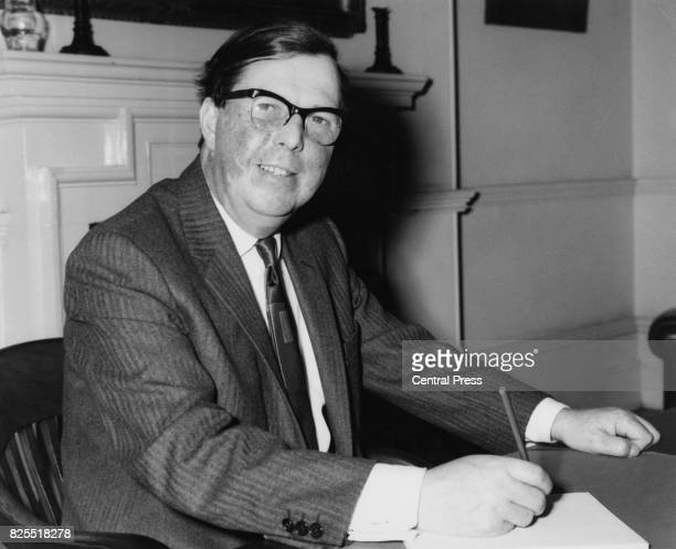 Welsh Labour politician Cledwyn Hughes the MP for Anglesey and new Minister of State for Commonwealth Relations at his office UK 20th October 1964