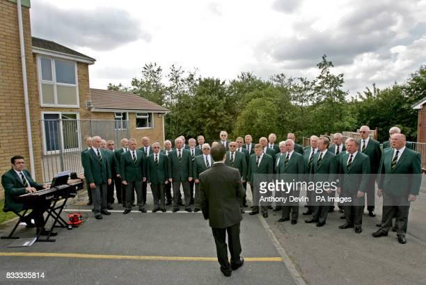 A Welsh male voice choir