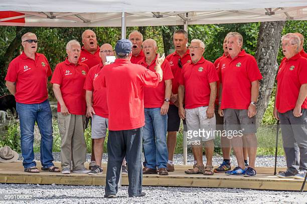 Welsh Male Voice Choir singing