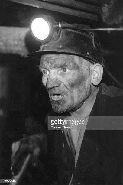 Welsh miner. Original Publication: Picture Post - 8479 - Pit Props - unpub.