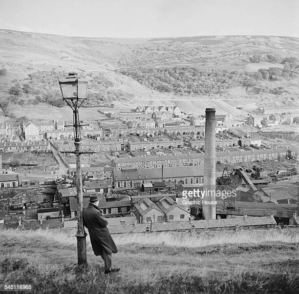 A Welsh mining town probably in Monmouthshire in southeastern Wales 1955