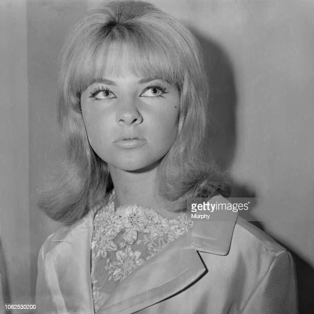 Welsh model and showgirl Mandy RiceDavies currently involved in the Stephen Ward court case and Profumo Affair pictured at the Mayfair Hotel in...