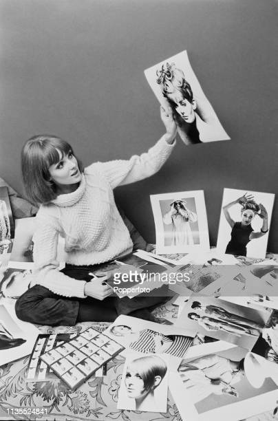 Welsh model Grace Coddington pictured looking at photographic prints from modelling shoots in London in February 1964 Grace Coddington has...