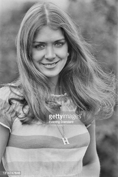 Welsh model Helen Morgan, winner of the 1974 Miss Wales and Miss United Kingdom titles, UK, 2nd July 1974. She won the Miss World 1974 contest later...
