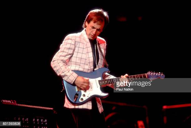 Welsh musician Andy FairweatherLow performs on stage during an ARMS Charity Concert at the Reunion Center in Dallas Texas November 27 1983