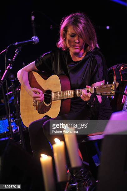 Welsh musician Cerys Matthews performing live on stage at the Union Chapel in London on October 21, 2009.