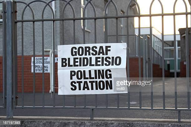Welsh polling station