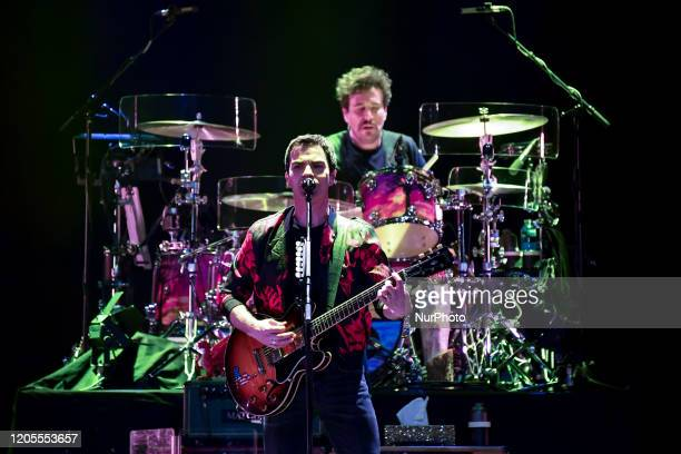 Welsh rock band Stereophonics perform on stage at the O2 Arena in London on March 6 2020 The band consists of Kelly Jones Richard Jones Adam Zindani...