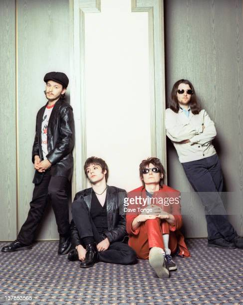 Welsh rock group Manic Street Preachers, London, 1993. Left to right: James Dean Bradfield, Richey Edwards , Nicky Wire and Sean Moore.