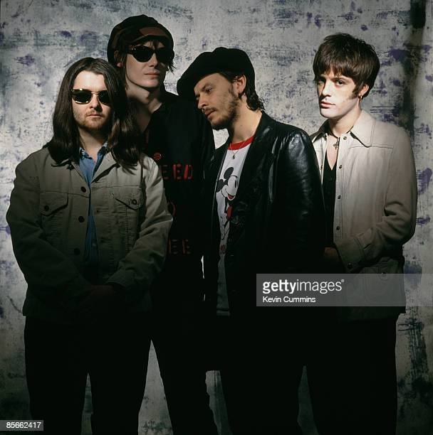 Welsh rock group Manic Street Preachers London 2nd June 1993 Left to right drummer Sean Moore bassist Nicky Wire singer James Dean Bradfield and...