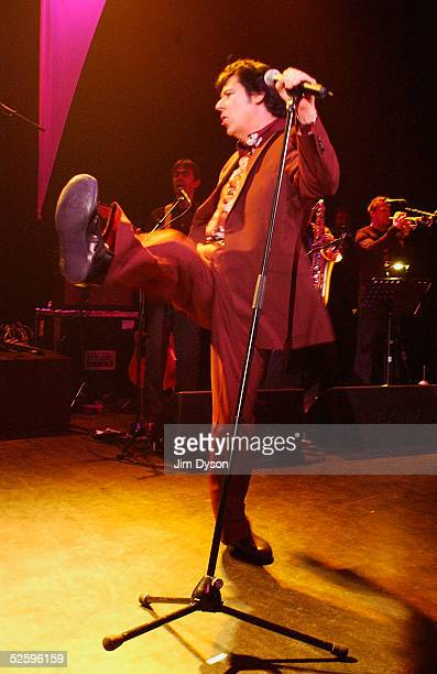 Welsh rockabilly singer Shakin' Stevens performs a oneoff live show in support of a Greatest Hits Album at Shepherd's Bush Empire on April 6 2005 in...