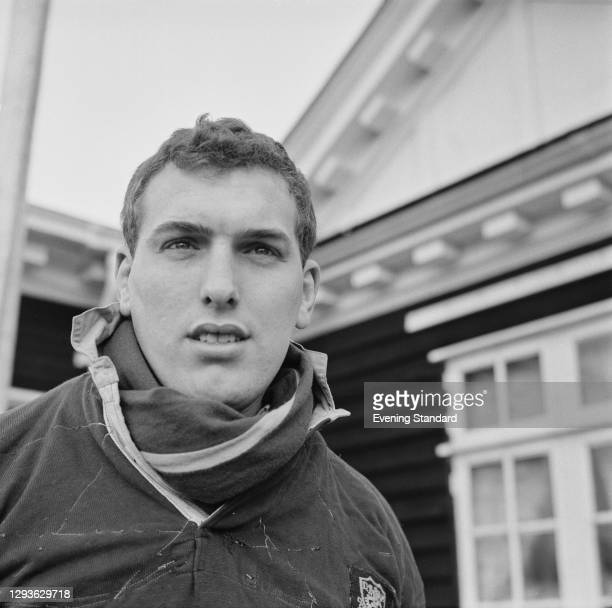 Welsh rugby union lock Brian Thomas , UK, January 1966.
