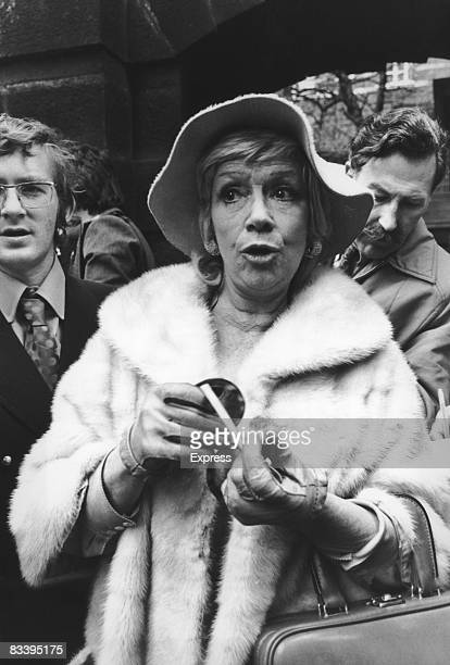 Welsh singer Dorothy Squires leaves Cannon Row Police Station in London after being charged with corrupt dealings in the BBC 18th May 1973 She and...