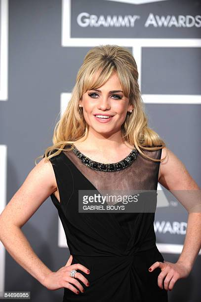 Welsh singer Duffy arrives at the 51st Annual Grammy Awards at the Staples Center in Los Angeles on February 8 2009 She is nominated Best New Artist...