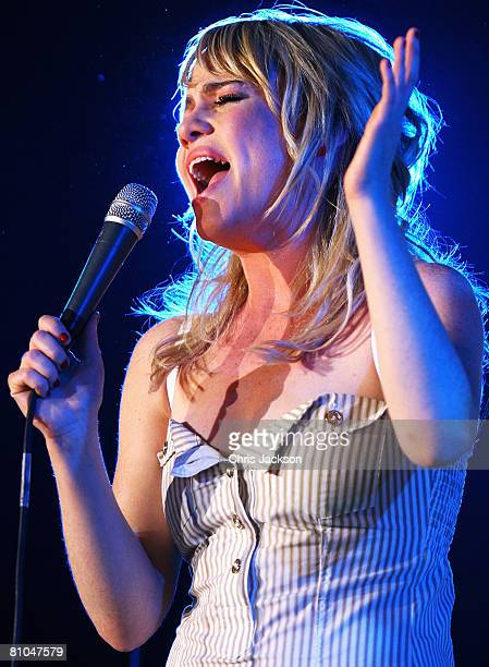 Welsh singer Duffy performs at Radio 1's Big Weekend in Mote Park on May 10, 2008 in Maidstone, England.