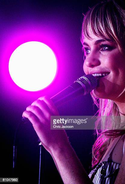 Welsh singer Duffy performs at Radio 1's Big Weekend in Mote Park on May 10 2008 in Maidstone England