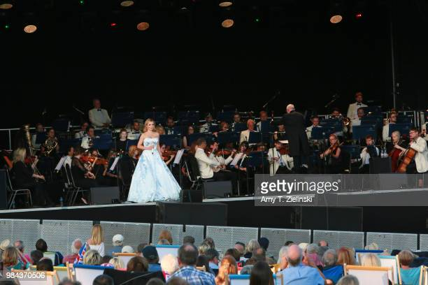 Welsh singer Katherine Jenkins performs live with the Royal Philharmonic Concert Orchestra conducted by maestro Paul Bateman during The Heritage Live...