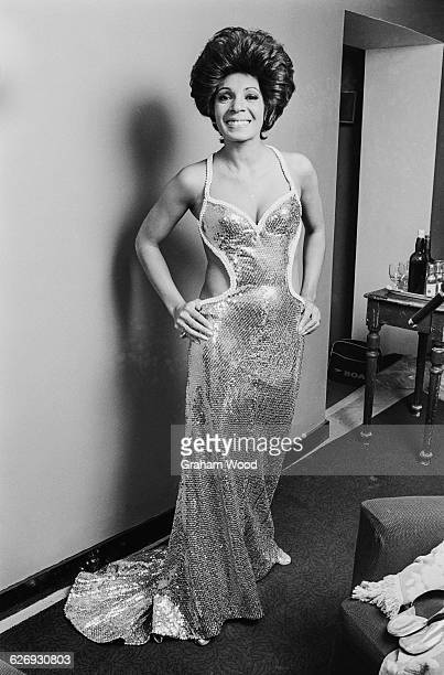 Welsh singer Shirley Bassey backstage at the Royal Albert Hall London UK 25th April 1971