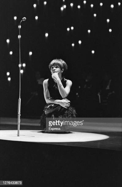 Welsh singer Shirley Bassey during dress rehearsals for the Royal Variety Performance at the London Palladium in London UK 8th November 1965