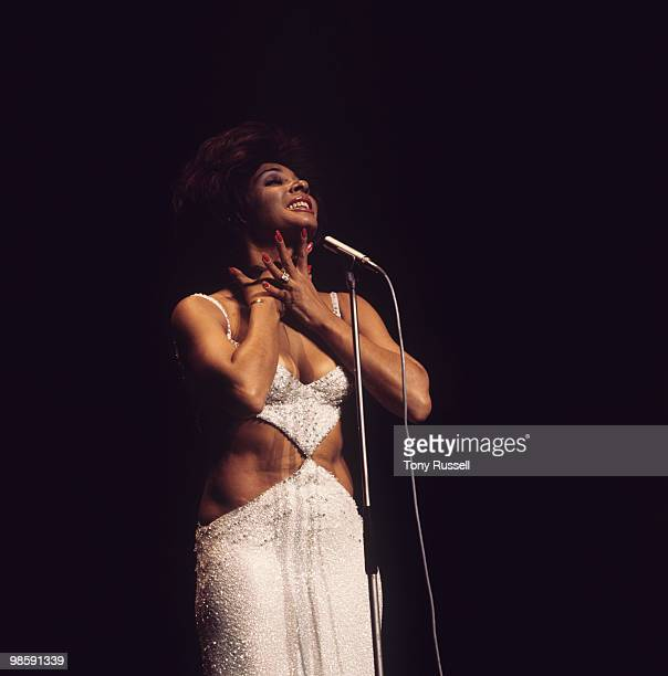 Welsh singer Shirley Bassey performs on stage at the Royal Variety Performance held at the Palladium in London England on November 15 1971