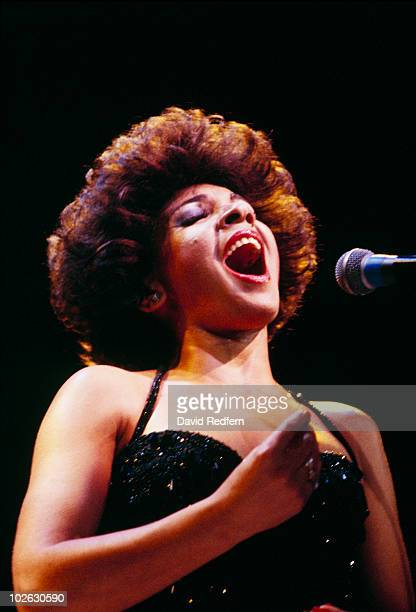 Welsh singer Shirley Bassey performs on stage in 1978