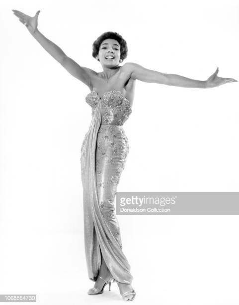 Welsh singer Shirley Bassey poses for a portrait circa 1960