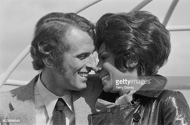 Welsh singer Shirley Bassey with her husband Sergio Novak in London UK 5th April 1970 Novak is the assistant manager of the Excelsior Hotel in Venice