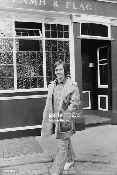 Welsh singer songwriter and guitarist Andy Fairweather Low outside the Lamb Flag pub in Covent Garden London 30th December 1975